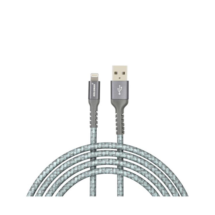 کابل تبدیل USB به لایتنینگ کلومن پلاس مدل +K2